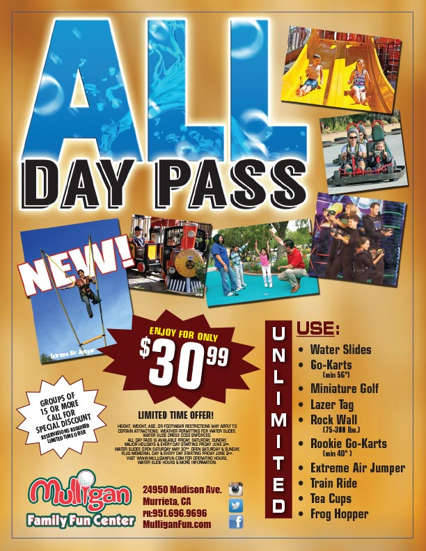All day pass flyer
